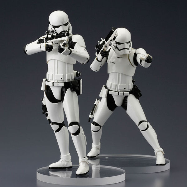 Star Wars Episode VII pack 2 statue ARTFX+ First Order Stormtrooper Kotobukiya