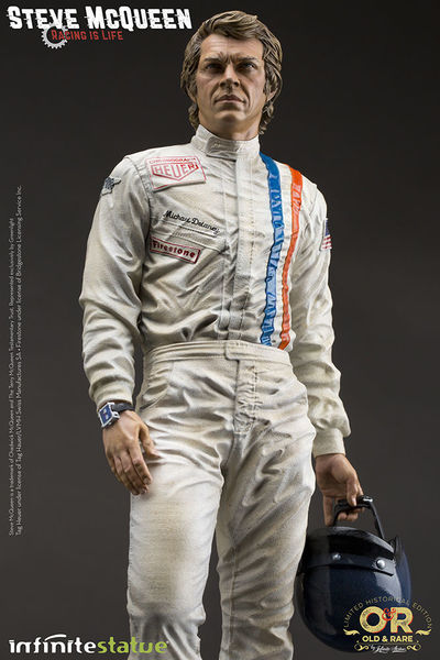 Steve McQueen Old & Rare Infinite Statue Le Mans : Racing is life
