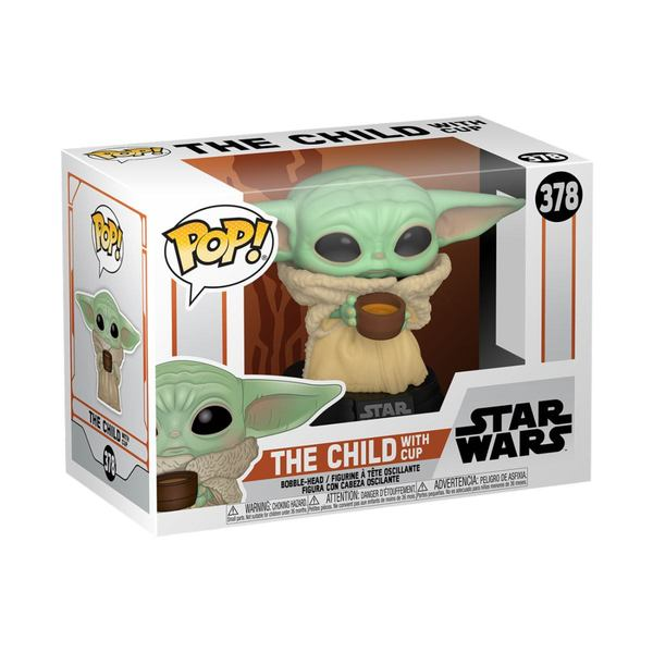 The Mandalorian POP! Star Wars Vinyl Figurine The Child w/ Cup 9 cm Funko