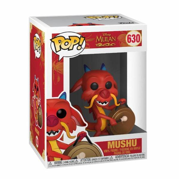 Mulan POP! Movies Vinyl figurine Mushu w/Gong Dragon Funko