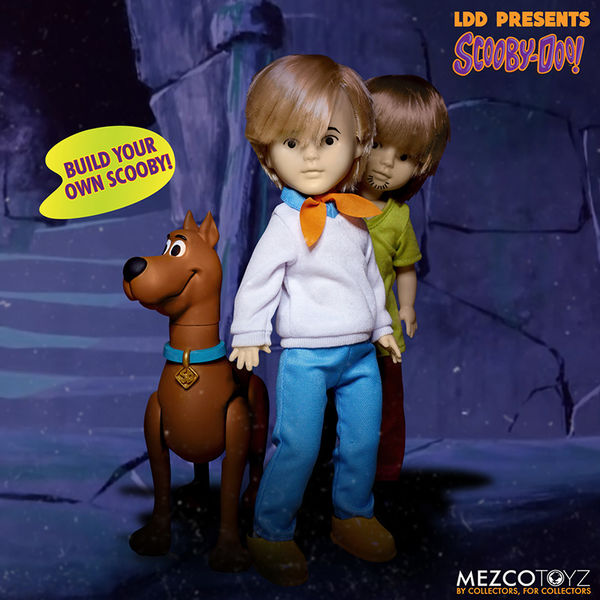 LDD Living Dead Doll Scooby Doo & Mistery Inc Set*4