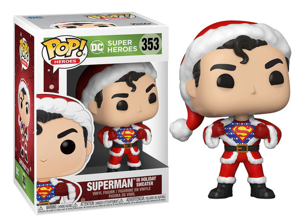 DC Comics POP! Heroes Vinyl figurine DC Holiday: Superman in Holiday Sweater Funko