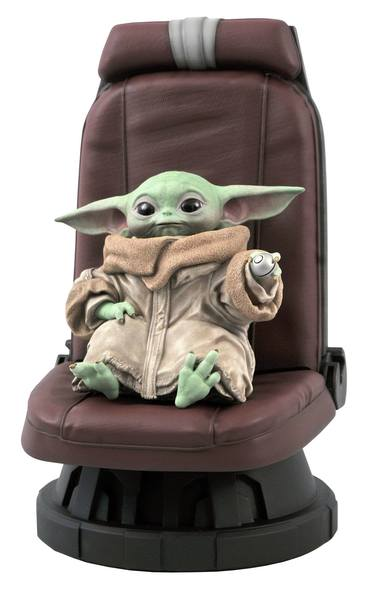 Star Wars The Mandalorian statuette Premier Collection 1/2 The Child in Chair Gentle Giant