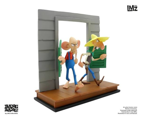 Lucky Luke statuette BANG BANG! Collection The Rivals of Painful Gulch LMZ Collectibles