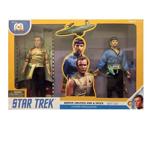 Star Trek pack 2 figurines Mirror Universe Spock & Kirk MEGO