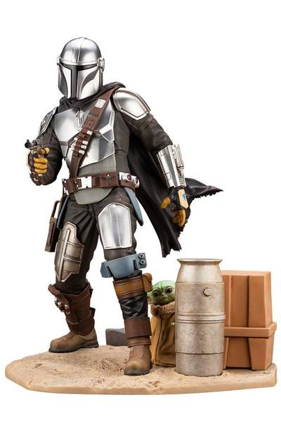 Star Wars The Mandalorian statuette PVC ARTFX 1/7 Mandalorian & The Child 26 cm Kotobukiya