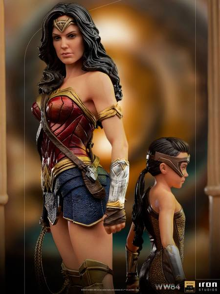 Wonder Woman 1984 statuette 1/10 Deluxe Art Scale Wonder Woman & Young Diana Iron Studios