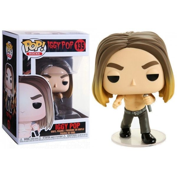 Iggy Pop POP! 135 Rocks Vinyl Figurine Iggy Pop Funko