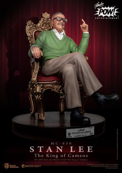 Stan Lee statuette Master Craft The King of Cameos 33 cm Beast Kingdom