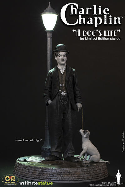 Charlie Chaplin with light Old & Rare Statue Infinite