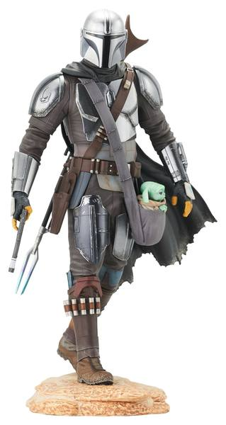 Star Wars The Mandalorian statuette Premier Collection 1/7 The Mandalorian with The Child Gentle Giant