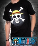 T-shirt ONE PIECE : SKULL WITH MAP ABYSTYLE
