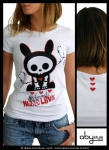 T-SHIRT SKELANIMALS JACK NEED LOVE ABYSTYLE