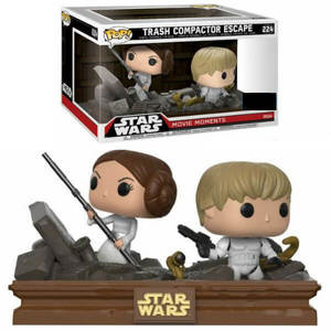 Star Wars pack 2 POP! Movie Moments Vinyl Bobble Head Trash Compactor Escape Funko