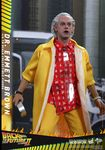 "Retour vers le Futur 2 figurine Movie Masterpiece Doc Emmett Brown 12"" Hot Toys BTTF"