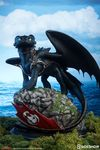 Dragons 2 statue Toothless krokmou Sideshow