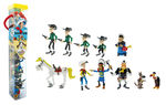 Lucky Luke tubo 11 figurines Plastoy