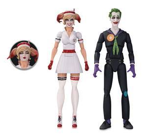 DC Bombshells Designer Series pack 2 figurines Nurse Harley & The Joker by Ant Lucia DC Collectibles