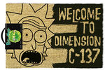 Rick & Morty paillasson Dimension C-137 Black 40 x 57 cm