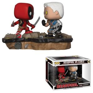 Deadpool pack 2 POP! Movie Moments 318 Bobble Head Deadpool vs. Cable Funko