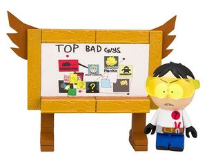 South Park Wave 1 jeux de construction Toolshed Stan with Top Bad Guys Board McFarlane