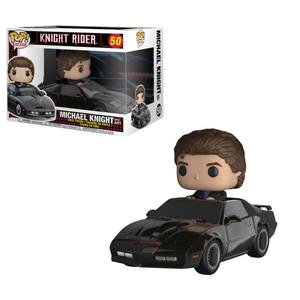 K-2000 Knight Rider POP! Rides 50 figurine KITT & Michael Knight Funko