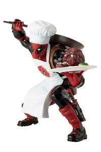 Marvel Comics statue ARTFX+ Cooking Deadpool Kotobukiya