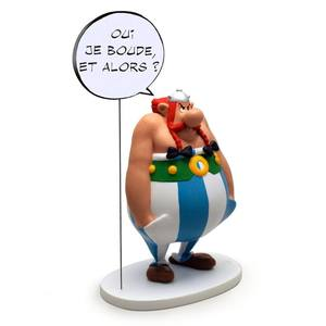 Asterix statue Collectoys Collection Bulles Asterix Oui je boude et alors ? Plastoy