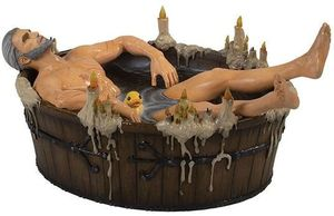 The Witcher 3 Wild Hunt statue Geralt in the Bath Dark Horse Dark Horse