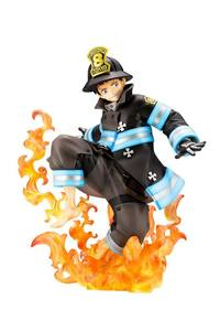 Fire Force statue ARTFXJ Shinra Kusakabe Glows in the Dark Kotobukiya