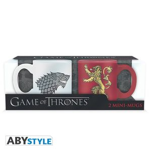 GAME OF THRONES - Set 2 mugs à espreso - 110 ml - Stark & Lannister