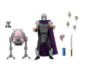 Les Tortues ninja pack 2 figurines Shredder vs Krang in Bubble Walker Neca