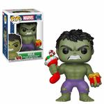 Marvel Comics POP! Marvel Holiday Vinyl Bobble Head Hulk (Stocking & Plush) FUNKO