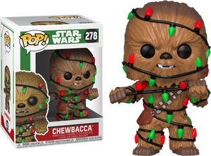 Star Wars POP! 278 Bobble Head Holiday Chewbacca with Lights Funko