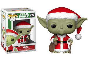 Star Wars POP! 277 Bobble Head Holiday Santa Yoda