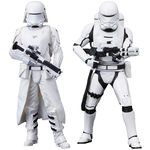 Star Wars Episode VII pack 2 statue ARTFX+ First Order Snowtrooper & Flametrooper Kotobukiya