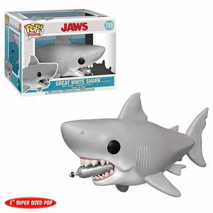 Les Dents de la mer Oversized POP! Movies Vinyl figurine Jaws with Diving Tank Funko