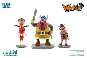 Vic le Viking coffret 3 statuettes Halvar, Gorm & Ulme LMZ Collectibles