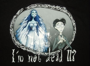 T-shirt CORPSE BRIDE : I'm not Dead ! EN STOCK