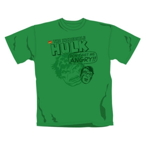 T-shirt Marvel : HULK DON'T GET ME ANGRY EN STOCK