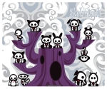 SKELANIMALS - Tapis de souris Familly Tree EN STOCK