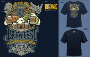WORLD OF WARCRAFT WOW T-SHIRT FETE DE LA BIERE BREWFEST