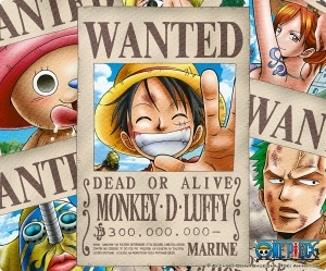 ONE PIECE TAPIS DE SOURIS WANTED LUFFY