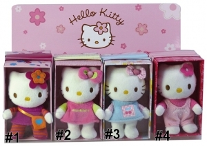 HELLO KITTY Peluche beanbag 10 cm Jemini au choix