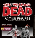 The walking Dead Pack de 2 Zombies Black & white McFarlane