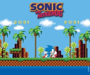 SONIC - Tapis de souris - Green Hills Level AbyStyle