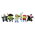BOB L'EPONGE - Pack de 6 mini Figurines Serie 2