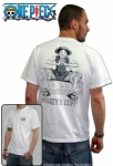"ONE PIECE - T-shirt ""Wanted"" homme MC white ABYstyle"