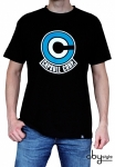 Dragon Ball - T-shirt Capsule Corp Homme Mc Black Abystyle