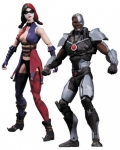 Injustice pack 2 figurines Cyborg vs. Harley Quinn DC Collectibles